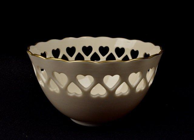 *Lenox Porcelain Cut-Out Heart Bowl - 2