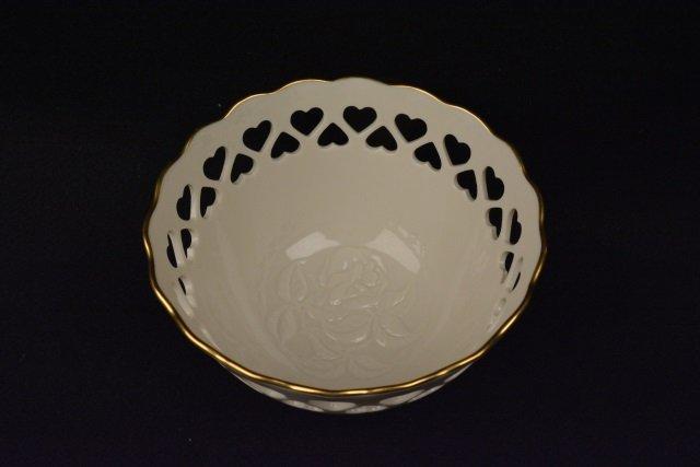 *Lenox Porcelain Cut-Out Heart Bowl - 3