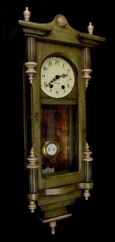 *P.F Bollenbach Regulator Wall Clock W/ Key