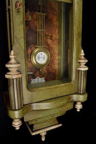 *P.F Bollenbach Regulator Wall Clock W/ Key - 4