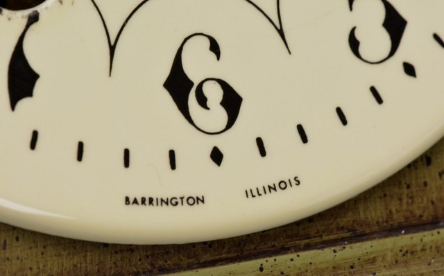 *P.F Bollenbach Regulator Wall Clock W/ Key - 7