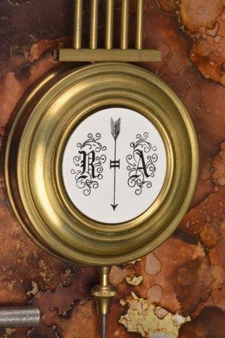 *P.F Bollenbach Regulator Wall Clock W/ Key - 8