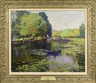 "Homer Davisson ""Woman Boating on River"", SLL"