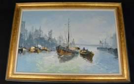 *Nautical Sailboat Impressionist Painting
