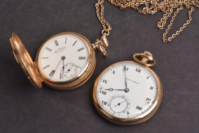 South Bend 15 Jewel Pocket Watch & Waltham AM