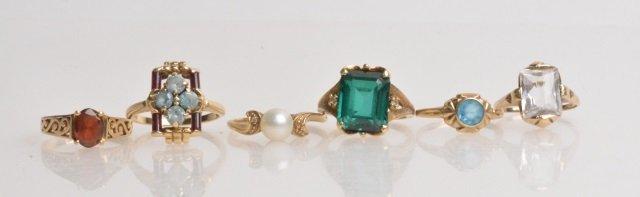 *(5) 10K Gold Ladies Rings