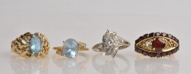 (4) 14K Gold Ladies Rings