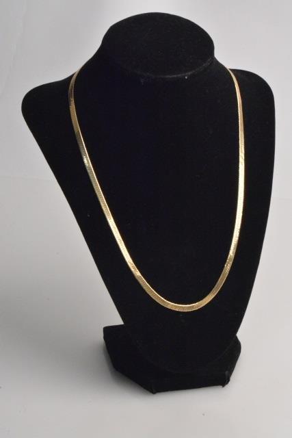 "*14K Gold Ladies Herringbone 20"" Necklace"