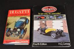 *(2) Bugatti Automobile Books By H.G. Conway