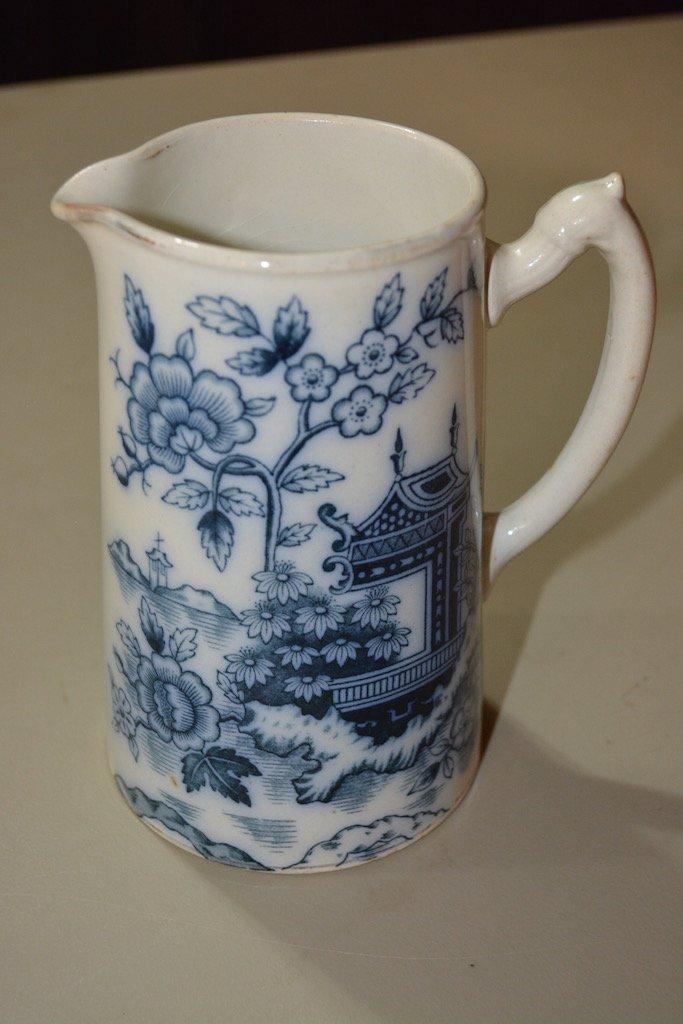 Blue & White S. Johnson Ltd. Burslem Britannia Pottery