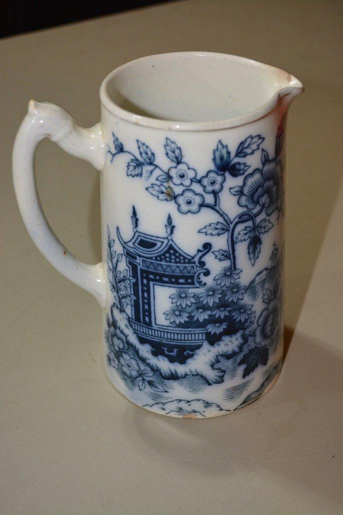 Blue & White S. Johnson Ltd. Burslem Britannia Pottery - 2