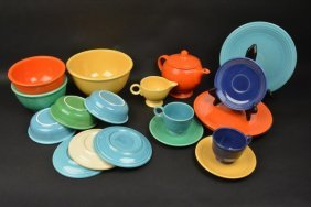 (21) Piece Fiesta Ware Dishes