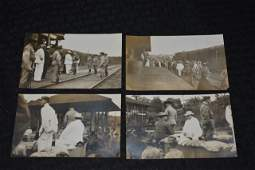 (4) Early1900's Military B&W Real Photo Postcards