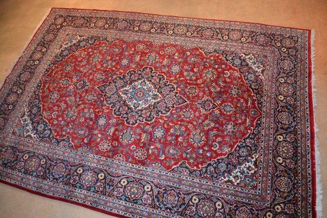 "Persian Kashan 7' 3"" x 10' 3"" Circa 1950's"