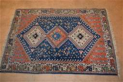 "Persian Tribal 100% Wool Pile Rug 3' 7"" x 5'"