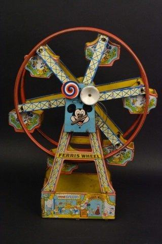 Walt Disney Tin Litho J. Chein Co. Ferris Wheel