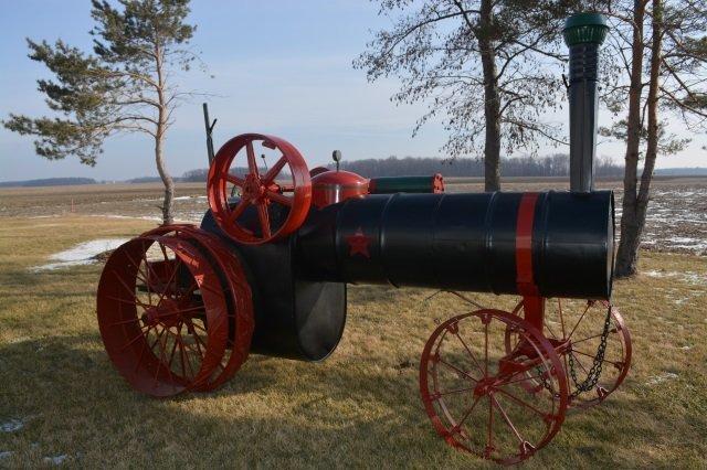 Custom Designed Steam Engine Lawn Decoration