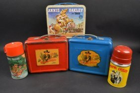 (3) 1950's Western Lunch Boxes