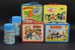 4 Comic Strip Vintage Lunch Boxes
