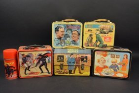 1960's Vintagetv Shows Metal Lunch Boxes