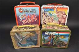 (4) Children's Vintage Metal Lunch Boxes