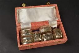 6 Sterling Silver Napkin Rings