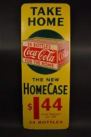 Coca-Cola Take Home 24 Bottles For The Home Sign
