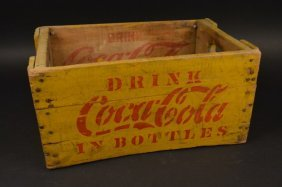 Rare Coca-cola Yellow 24 Bottle Carrier Crate