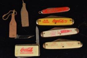 (7) Coca-cola Advertising Pocket Knives