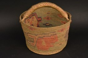 Hand Woven Handled Indian Basket