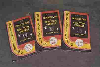 1932 World Series Cubs VS Yankees Score Cards