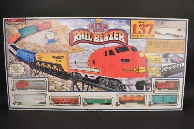 Bachmann Rail Blazer HO Scale Electric Train Set.