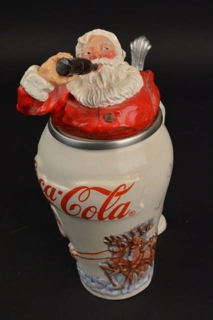 Coca-Cola Collector Stein Santa Travel Refreshed