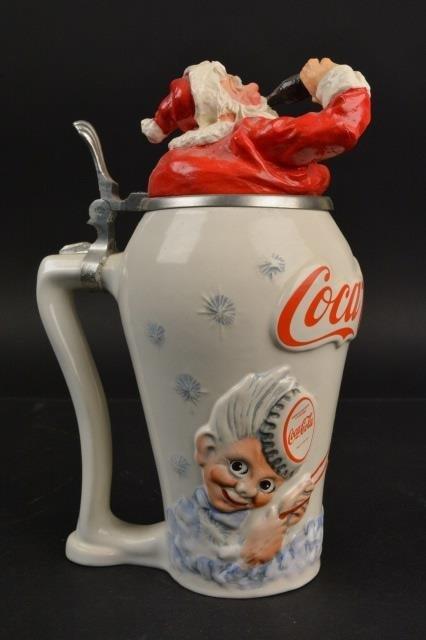 Coca-Cola Collector Stein Santa Travel Refreshed - 3