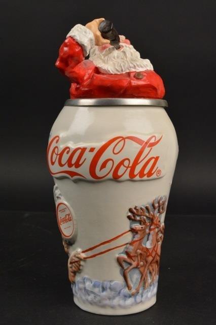 Coca-Cola Collector Stein Santa Travel Refreshed - 4