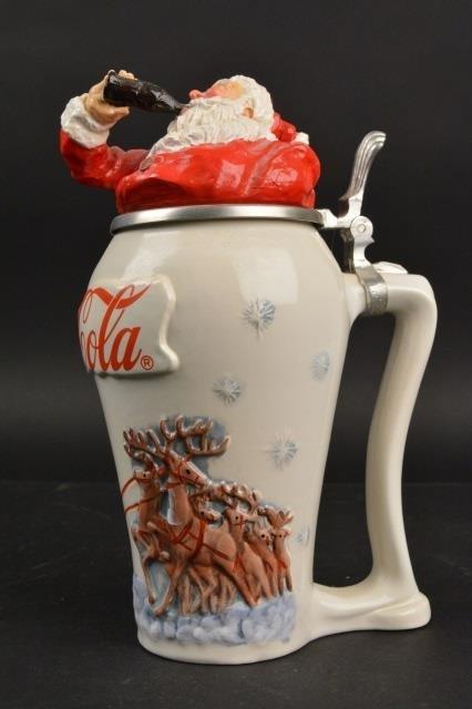 Coca-Cola Collector Stein Santa Travel Refreshed - 5