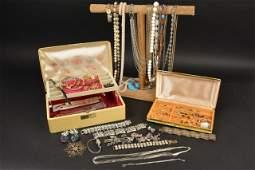 Ladies Vintage, Costume, Sterling Estate Jewelry