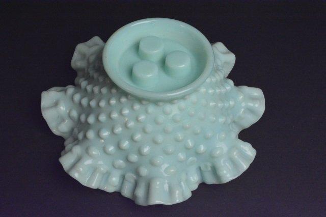 Fenton Epergne Opalescent Hobnail Vase - 5
