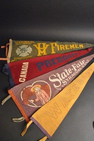 (17) Souvenir Pennants Many N.Y. & NE U.S. - 3