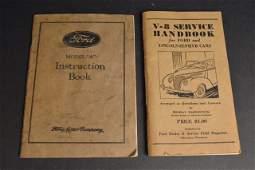 (2) 1930's Ford Instruction/ Handbooks