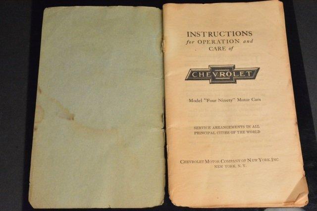 Chevrolet Model 490 Operating Instruction Manual - 2