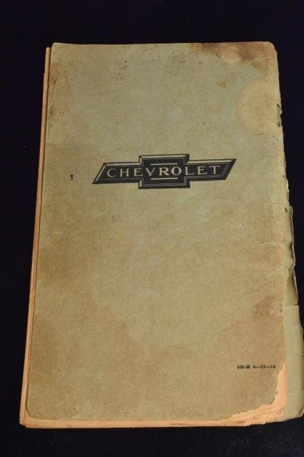 Chevrolet Model 490 Operating Instruction Manual - 3