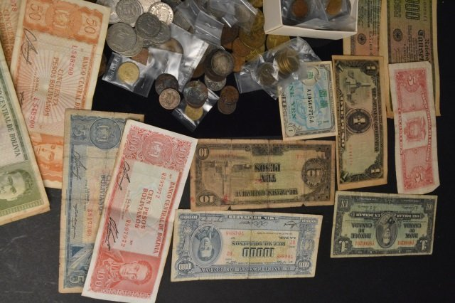 LARGE Lot of Foreign Coins & Currency - 6