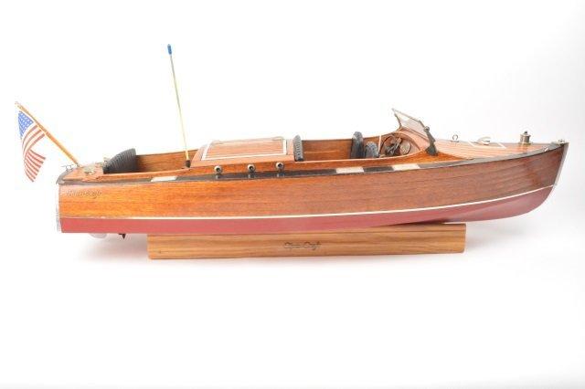 "Chris Craft ""Mahogany Dreams"" Wood Model Boat"