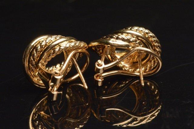 Ladies 14K Yellow Gold Earrings - 2
