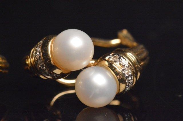 14K Yellow Gold Earrings W/ 1/10 CTW Diamonds - 3