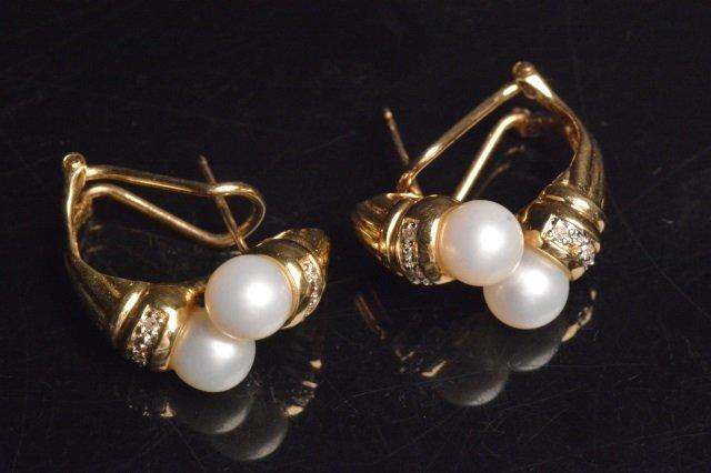 14K Yellow Gold Earrings W/ 1/10 CTW Diamonds - 4