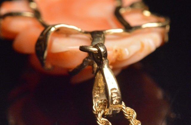 "14K Yellow Gold Pendant & 24"" Chain - 4"