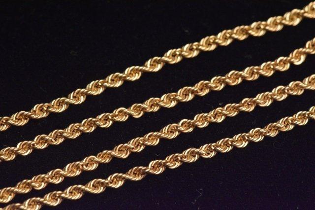 "14K Yellow Gold Pendant & 24"" Chain - 5"