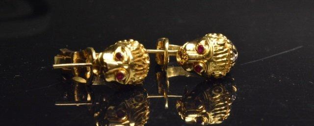 18K Yellow Gold Earrings W/ Diamonds